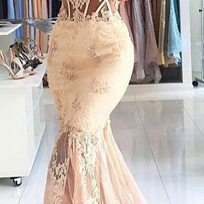 Appliques Lace Long Evening Dress ..
