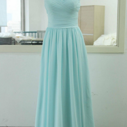 Light Sky Blue Prom Dresses,Chiffo..