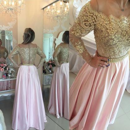 Pink Prom Dresses,Pink Evening Gow..