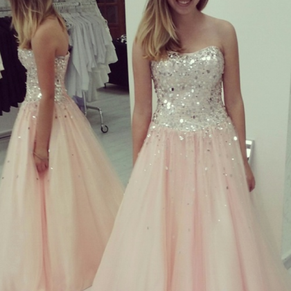Pearl Pink Prom Dresses,Ball Gown ..