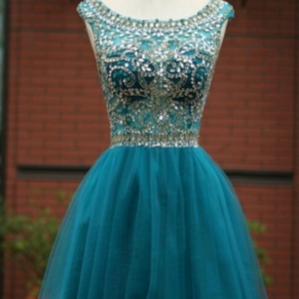 Blue Homecoming Dress,Short Prom G..