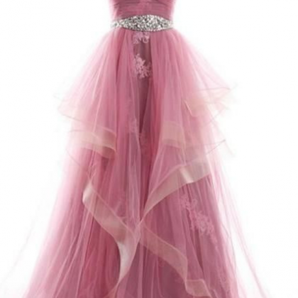Strapless Sweetheart Long Prom Dres..