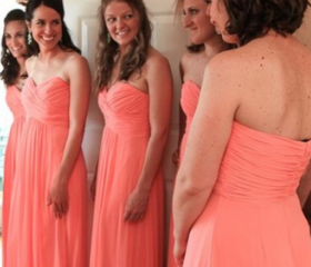 Coral Bridesmaid Gow..