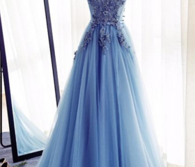 Blue Floor Length Tu..