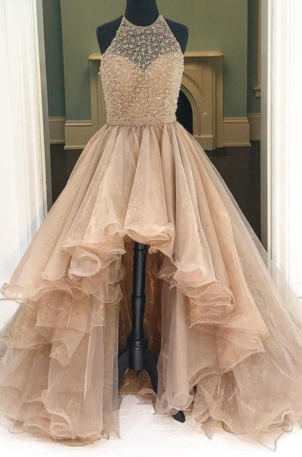 Mermaid Prom Dress,Formal Evening Dress,Crystal Evening Dress,Elegant Evening Dress