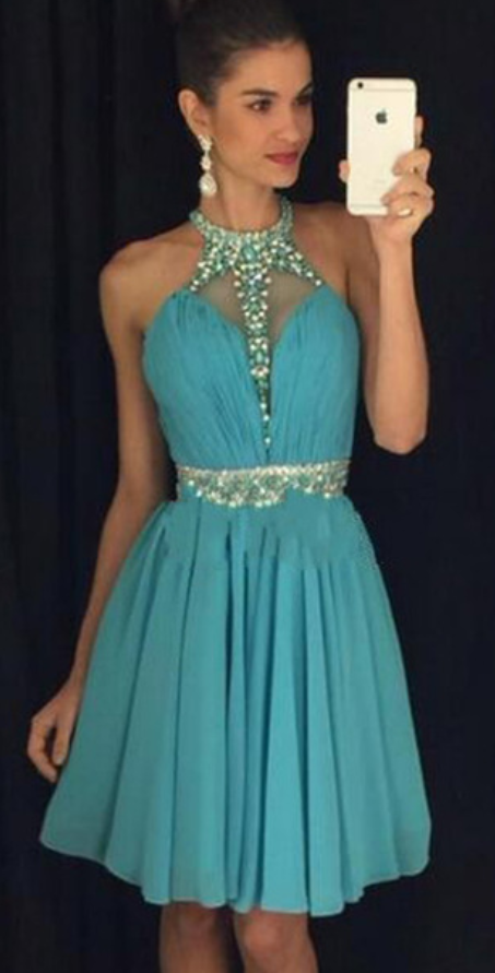 Blue Homecoming Dress,Homecoming Dresses,Homecoming Gowns,Backless Party Dress,Short Prom Gown,Sweet 16 Dress,Homecoming Gowns