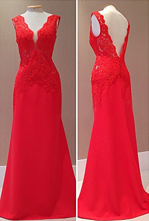 Charming Prom Dress,Sexy Prom Dress,Lace Long Evening Dress,Formal Dress