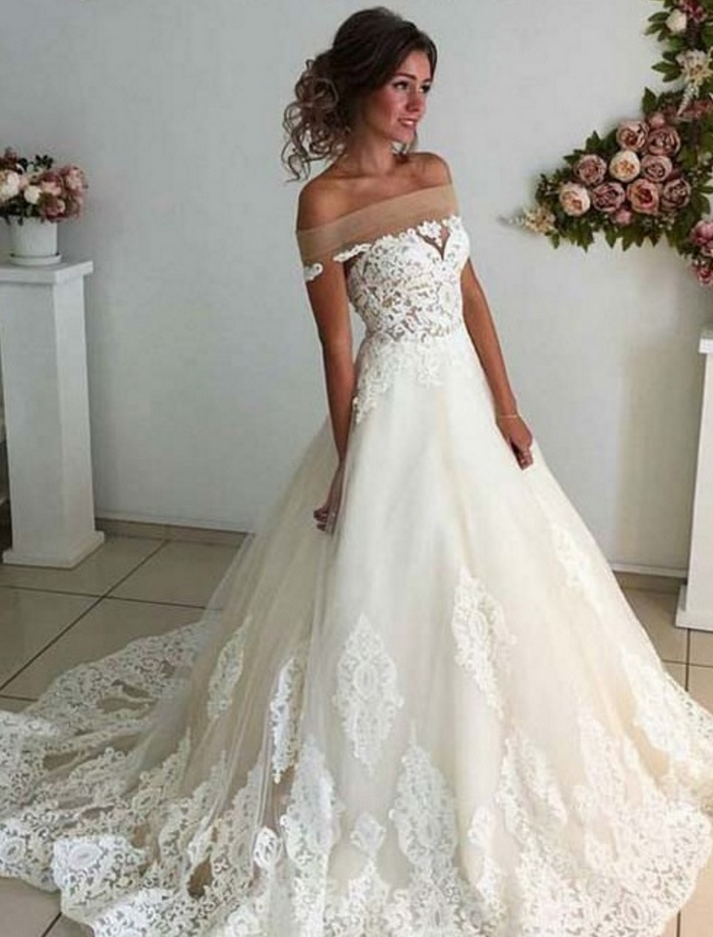 Affordable Lace Unique Wedding Dress 68f592d0f