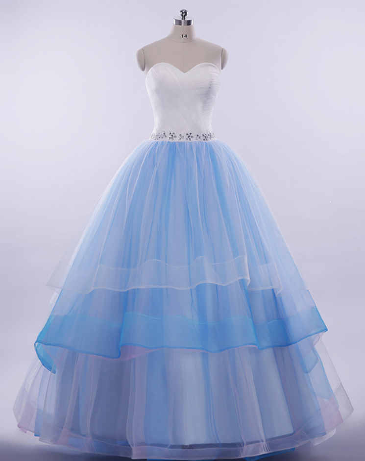 Cheap wedding dresses ,Ball Gown Layers Wedding Dress.Colorful Wedding Dress