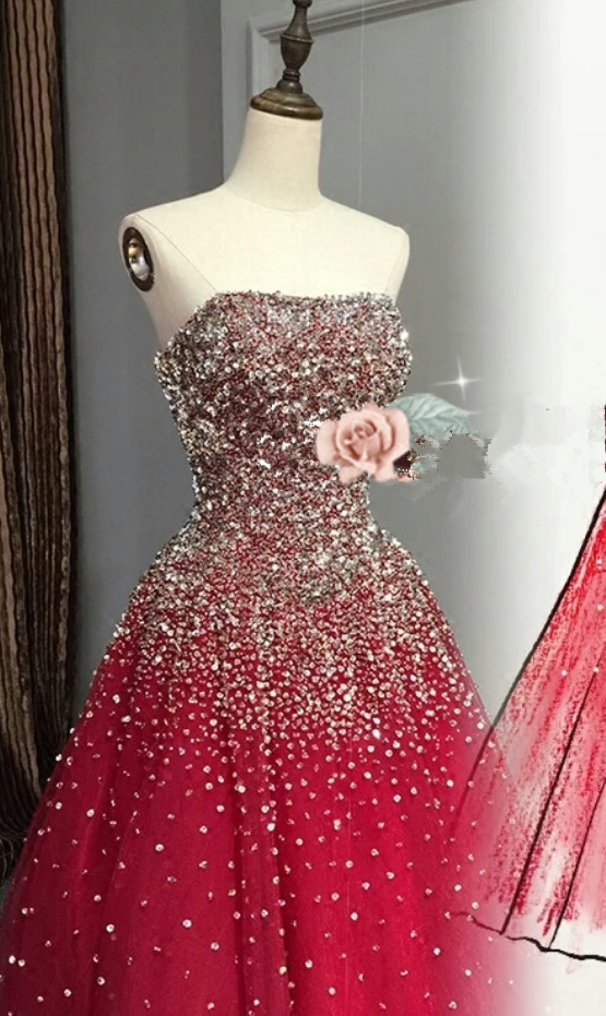 Prom Dress,Prom Dresses,Sparkling Rhinestone Prom Dress,Bling Prom Dress,Long Prom Dress,Beaded Prom Dress, Fashion Girl Party Dress,Ball Gown,Ball Gown Prom Dress