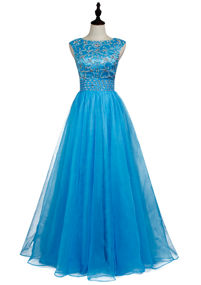 New Arrive Prom Gowns A-line Tulle Prom Dress Floor-length Long Vestidos de fiesta Evening Party Dress Custom Size