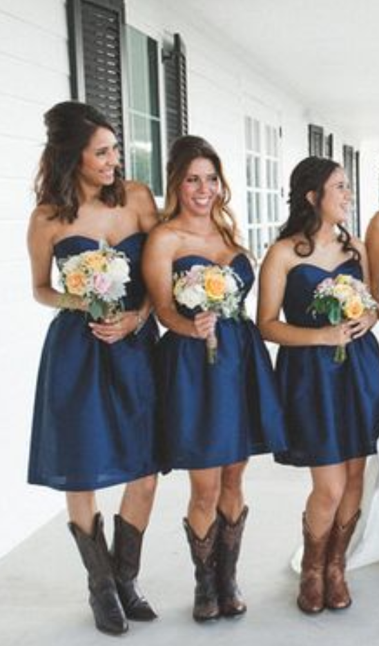Navy Blue Bridesmaid Dressshort Prom Dresssweetheart Homecoming Dressesbridesmaid Dresses