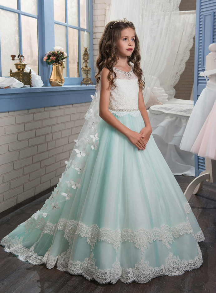 Flower Girl Dresses New Princess Puffy Ball Gown Pageant Dresses For ...