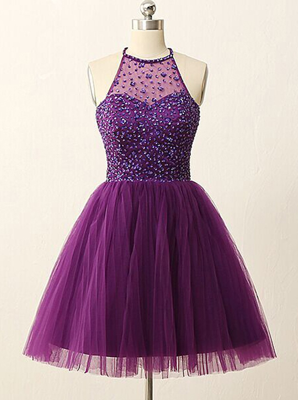 Purple beautiful dresses for prom