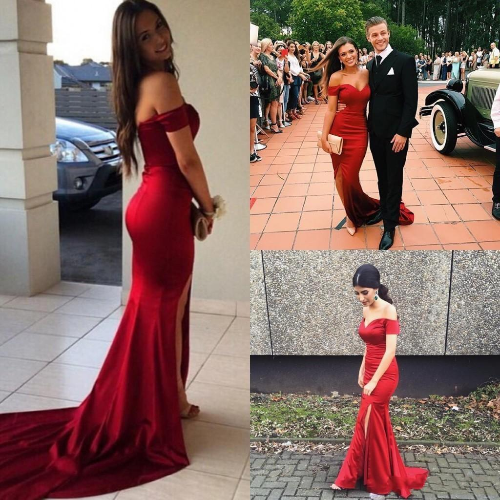 086de99221546 Red Prom Dress, Mermaid Prom Dress, Sexy Prom Dress, Side Slit Prom Dress,  Long Prom Dress, Special Occasion Gowns, Prom Dresses, Party Dresses