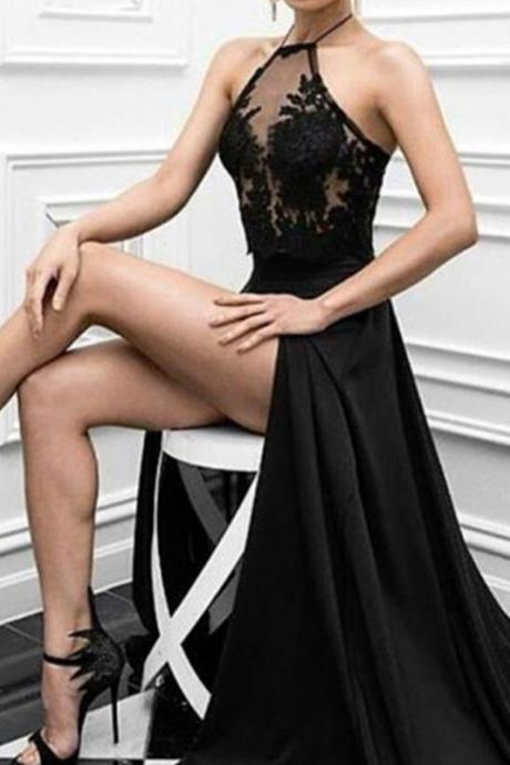 Prom Dresses,Black Prom Dresses,Lace Prom Dresses,Evenig Dresses,Simple Cheap Prom Gowns,Modest Prom Dress,Prom Dresses For Teens