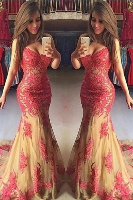 Elegant Mermaid Prom Dresses,Floor Length Prom Dress,Evening Dresses