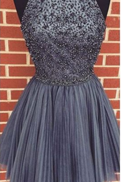 short gray homecoming dress, short homecoming dress, dancing grey dress party dress