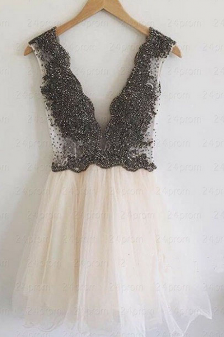 Deep V-Neck Homecoming Dresses,Sexy Homecoming Dresses,Popular Homecoming Dresses,Cheap Homecoming Dresses,Juniors Homecoming Dresses