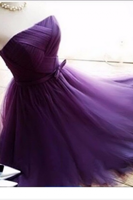 Grape Homecoming Dress,Short Tulle Prom Dresses,Homecoming Gowns,Homecoming Dresses,Winter Formal Dresses