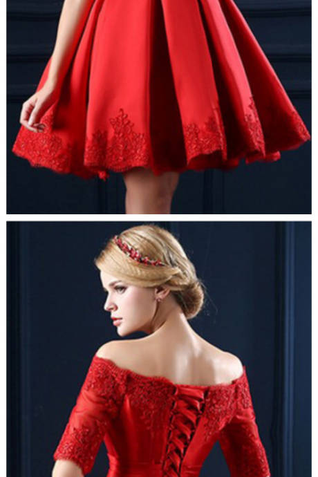 Homecoming Dresses,Junior Homecoming Dresses,Red long sleeve homecoming dress, Short homecoming dress, short homecoming dresses, homecoming dress, short prom dresses, homecoming dress