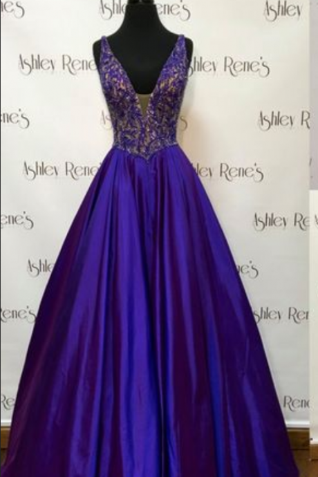 Royal Blue Prom Dress,Ball Gown Prom Dress,Satin Prom Gown,Backless Prom Dresses,Sexy Evening Gowns