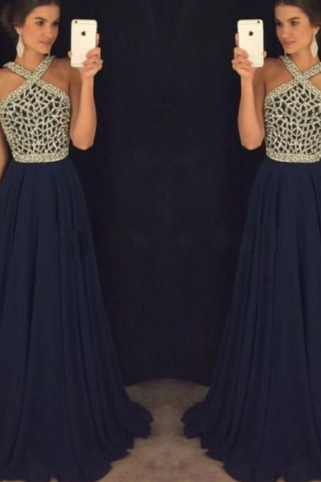 Navy Blue Prom Dresses,Navy Blue Prom Gowns,Prom Dresses, Party Dresses,Long Prom Gown,Prom Dress,Sparkle Evening Gown,Sparkly Party Gowns