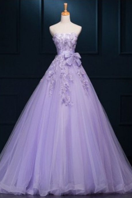 Prom Dresses,Lilac Prom Dress,Modest Prom Gown,Ball Gown Prom Gown,Princess Evening Dress,Ball Gown Evening Gowns