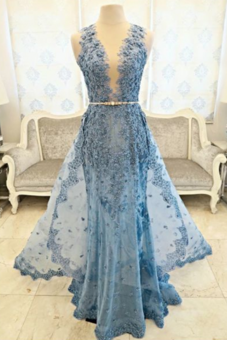 New Arrival Prom Dress,Modest Prom Dress,Flower wedding dress,blue wedding dress,blue wedding dress,wedding dress
