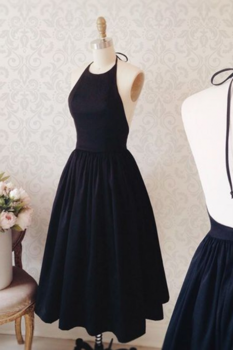 New Arrival Prom Dress,Cute prom dresses,A-line black cocktail dress for prom ,party dress