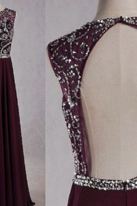 Backless Prom Dresses,Grape Prom Dress,Chiffon Prom Gown,Open Back Prom Dresses,Open Backs Evening Gowns,Halter Formal Gown,Chiffon Evening Gowns,Grape Formal Gown For Teens Girls