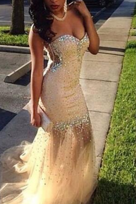 Champagne prom Dresses,Champagne Prom Dress,Sexy Prom Dress,Prom Dresses,2016 Formal Gown,Tulle Evening Gowns,Party Dress,Prom Gown For Teens