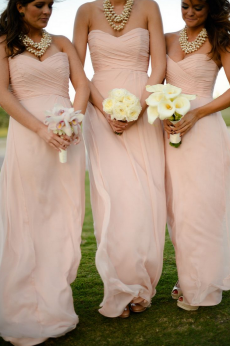 Blush Pink Bridesmaid Gown,Pretty Prom Dresses,Blush Pink Prom Gown,Simple Bridesmaid Dress,Cheap Evening Dresses,Fall Wedding Gowns,Sweetheart Bridesmaid Dresses,2016 Spring Bridesmaid Gown