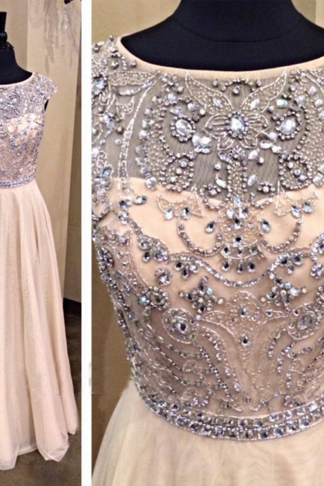 Light Pale Pink Prom Dress,A line Prom Dress,Chiffon Prom Gown,Cap Sleeves Prom Dresses,Sexy Evening Gowns,Modest Evening Gown,Beading Party Dress,Beaded Formal Gowns For Teens