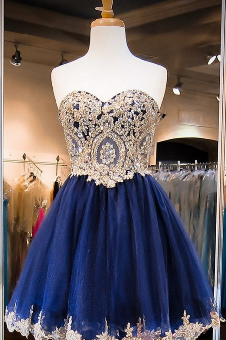 Cute Royal Blue Homecoming Dresses, Short Prom Dresses, Lace Organza Homecoming Dresses, Lovely Party Dresses, Custom Made Homecoming Dresses, Homecoming Dresses