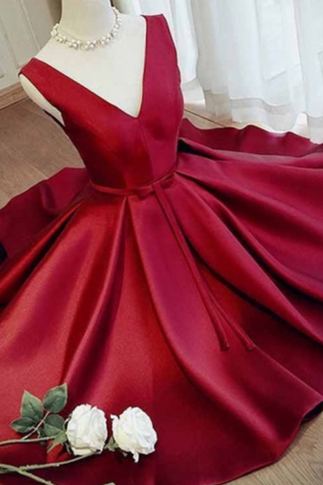 Burgundy Homecoming Dress,Homecoming Dresses,Short Prom Dress,Open Back Sweet 16 Dress,Homecoming Dresses,Open Backs Formal Gown