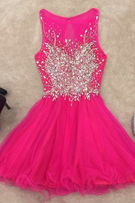 Homecoming Dress,chic prom dresses,short prom gowns,pink homecoming dress,short cocktail dresses 2017,elegant prom gowns