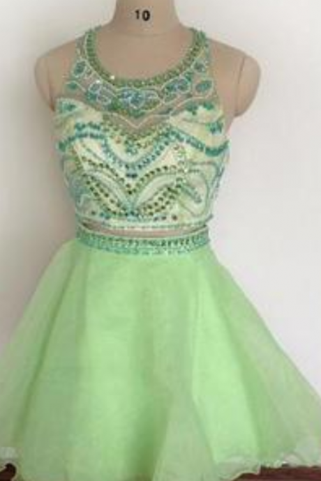 Mint Green Homecoming Dress,2 Piece Homecoming Dresses,Homecoming Gowns,Short Prom Gown,Sweet 16 Dress,Homecoming Dress,2 pieces Cocktail Dress,Two Pieces Evening Gowns