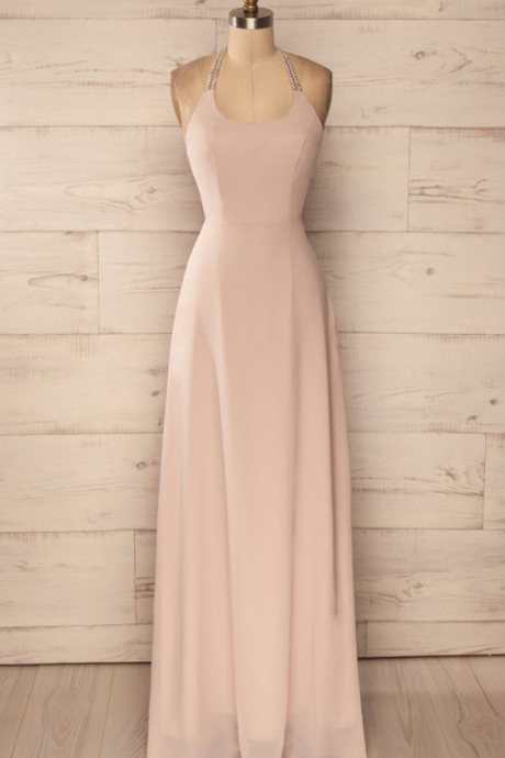 Charming Prom Dress,Chiffon Prom Dress,Halter Prom Dress,Evening Dress