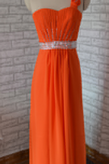 Charming Evening Dress,One Shoulder Evening Dresses,Long Prom Dress,Sexy Prom Dresses,Formal Dress