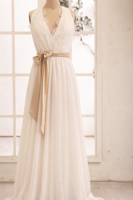 New Arrival Chiffon Prom Dress,Long Evening Dress,Lace Top Prom Dresses