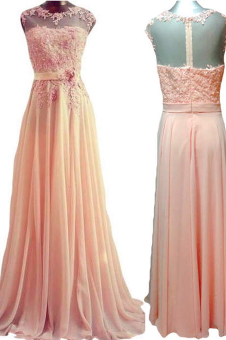 A Line Prom Dress,Sexy Prom Dress,Chiffon Backless Evening Dress,Long Formal Dress