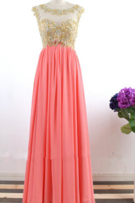 Evening Dress,Chiffon Evening Formal Dress,A Line Evening Gown,Women Dress