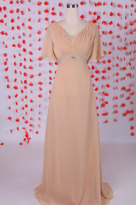 New Arrival Chiffon Prom Dress,Long Prom Dress,Formal Evening Dress,Wedding Prom Dress