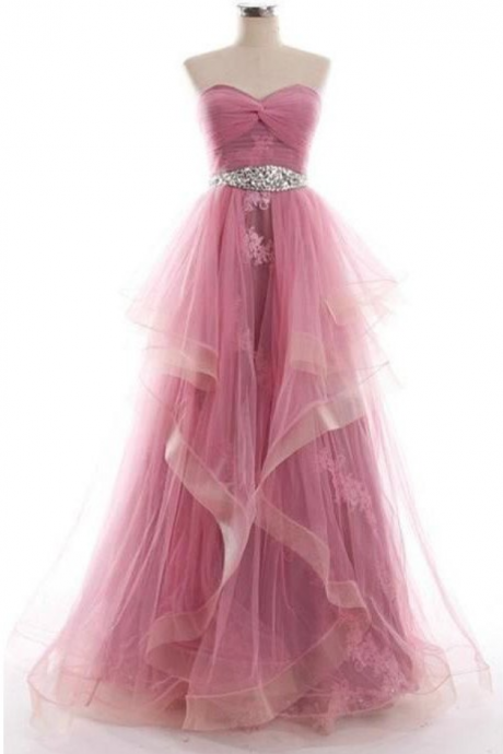 Charing Prom Dress,Long Prom Dresses,Organza Prom Dress,Prom Gown