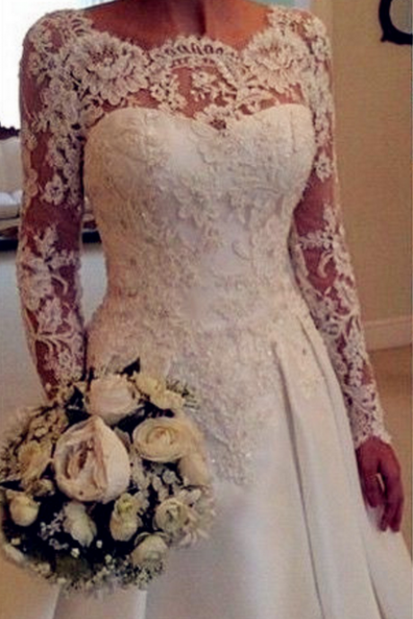 Wedding Dresses,Elegant Wedding Dresses,Wedding Dress ,Long Sleeve Wedding Dresses,Sexy Backless Wedding Dress,Lace Wedding Dresses