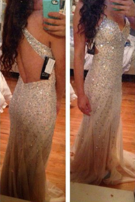 Backless Prom Gown,Open Back Prom Dresses,Royal Blue Evening Gowns,Beaded Party Dresses,Mermaid Evening Gowns,Backless Formal Dress For Teens
