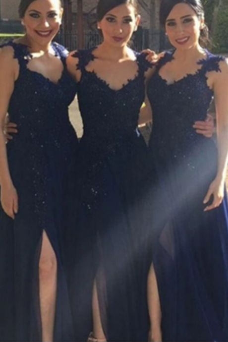 long bridesmaid dresses,naby blue bridesmaid dresses ,lace bridesmaid dresses,a line bridesmaid dresses,cheap bridesmaid dresses,discount bridesmaid dresses
