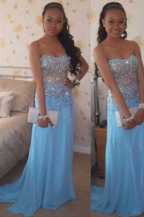 Custom Made Charming Prom Dress,Mermaid Prom Dress,Beading Prom Dress,Chiffon Prom Dress,Beading Evening Dress