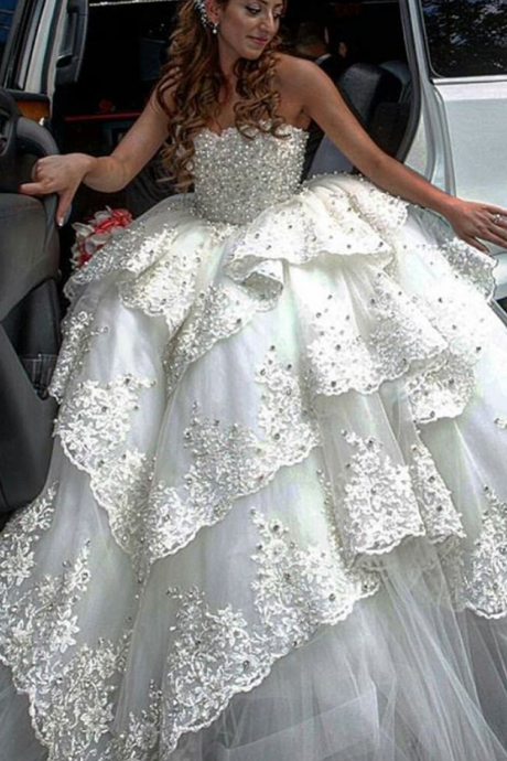 Cheap wedding dresses ,Luxury Wedding Dress, Beaded Wedding Dress, Elegant Wedding Dress, Lace Wedding Dress